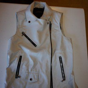 NWT Express Faux Leather Sleeveless Vest